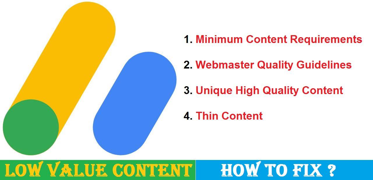 Adsense Low Value Content