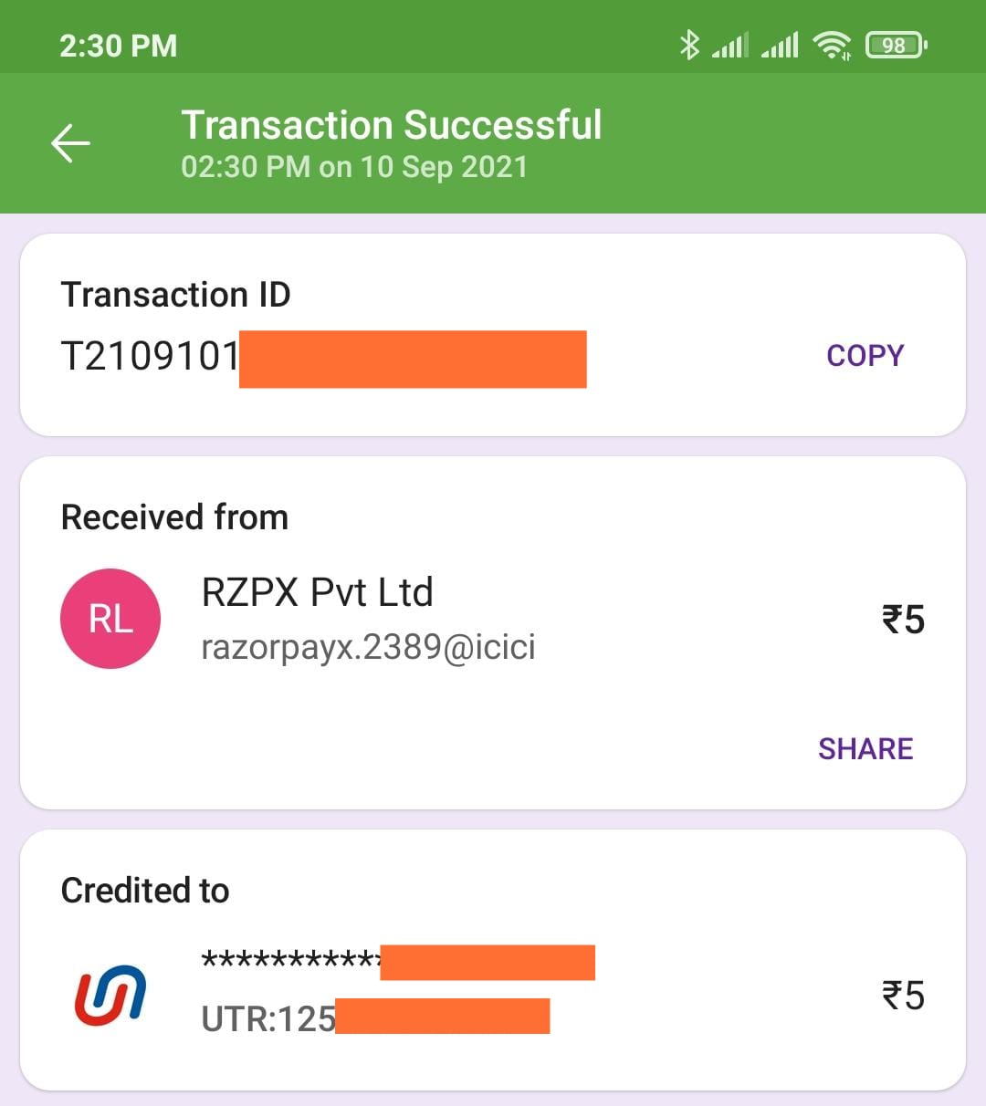 wizely app payment proof